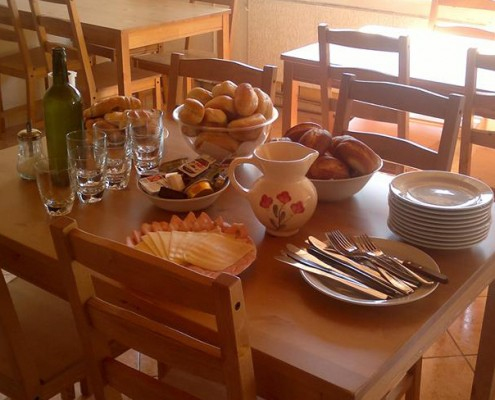 Hostel Bovec - Buffet breakfast