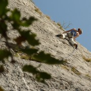 Rock climbing near Bovec