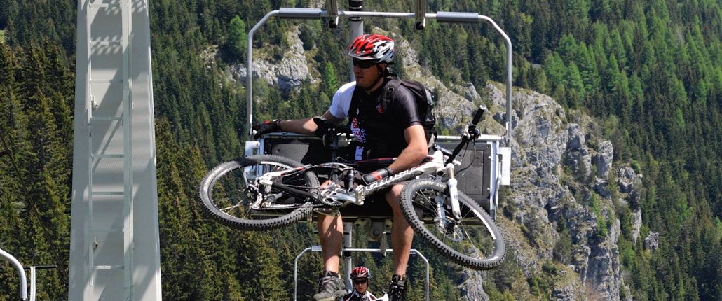 Mountain biking - Gondola ascent